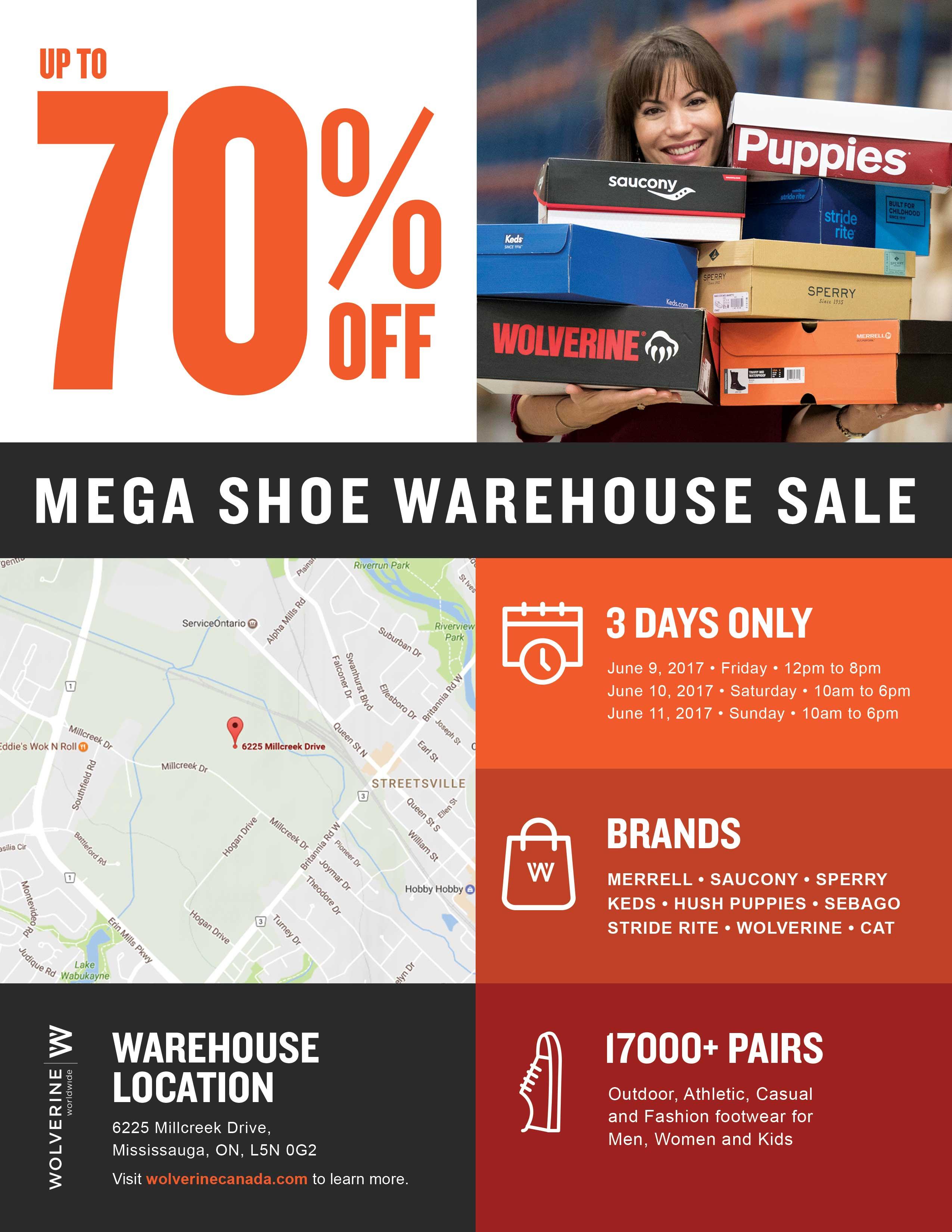 wolverine mega shoe warehouse sale