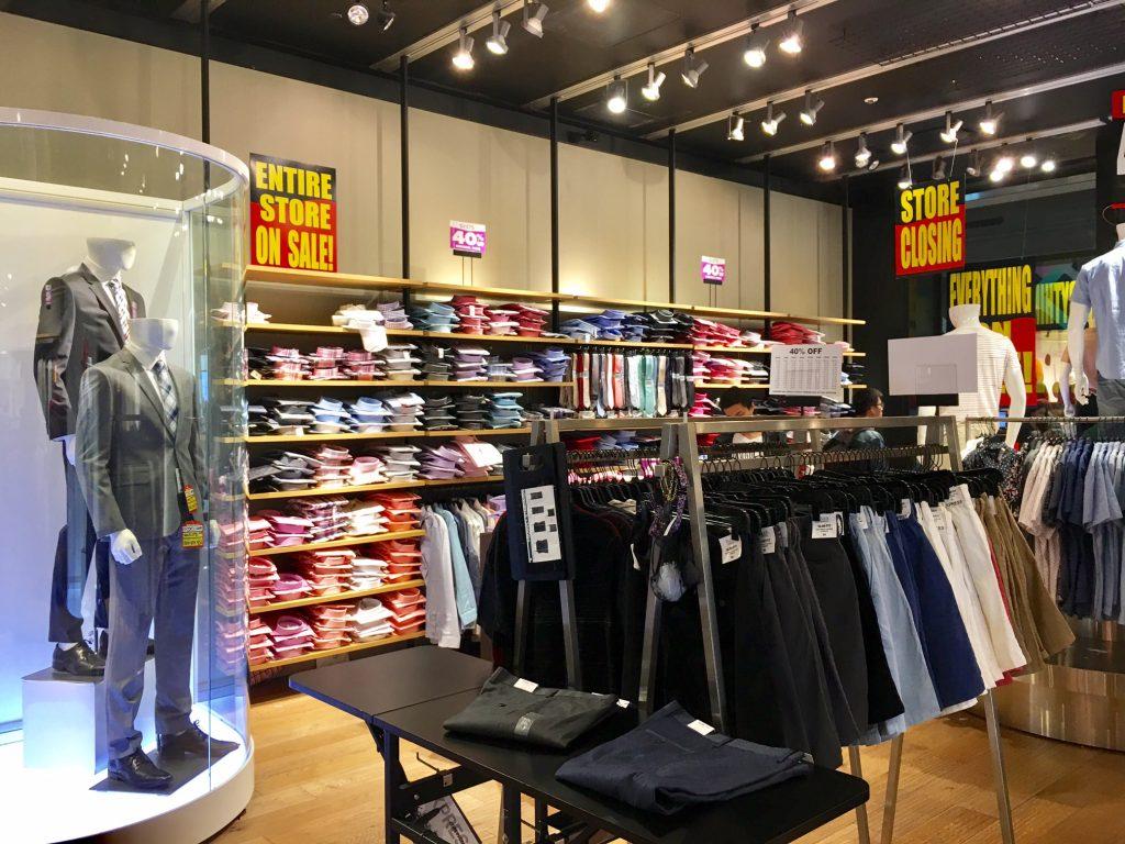 Express clothing store closing