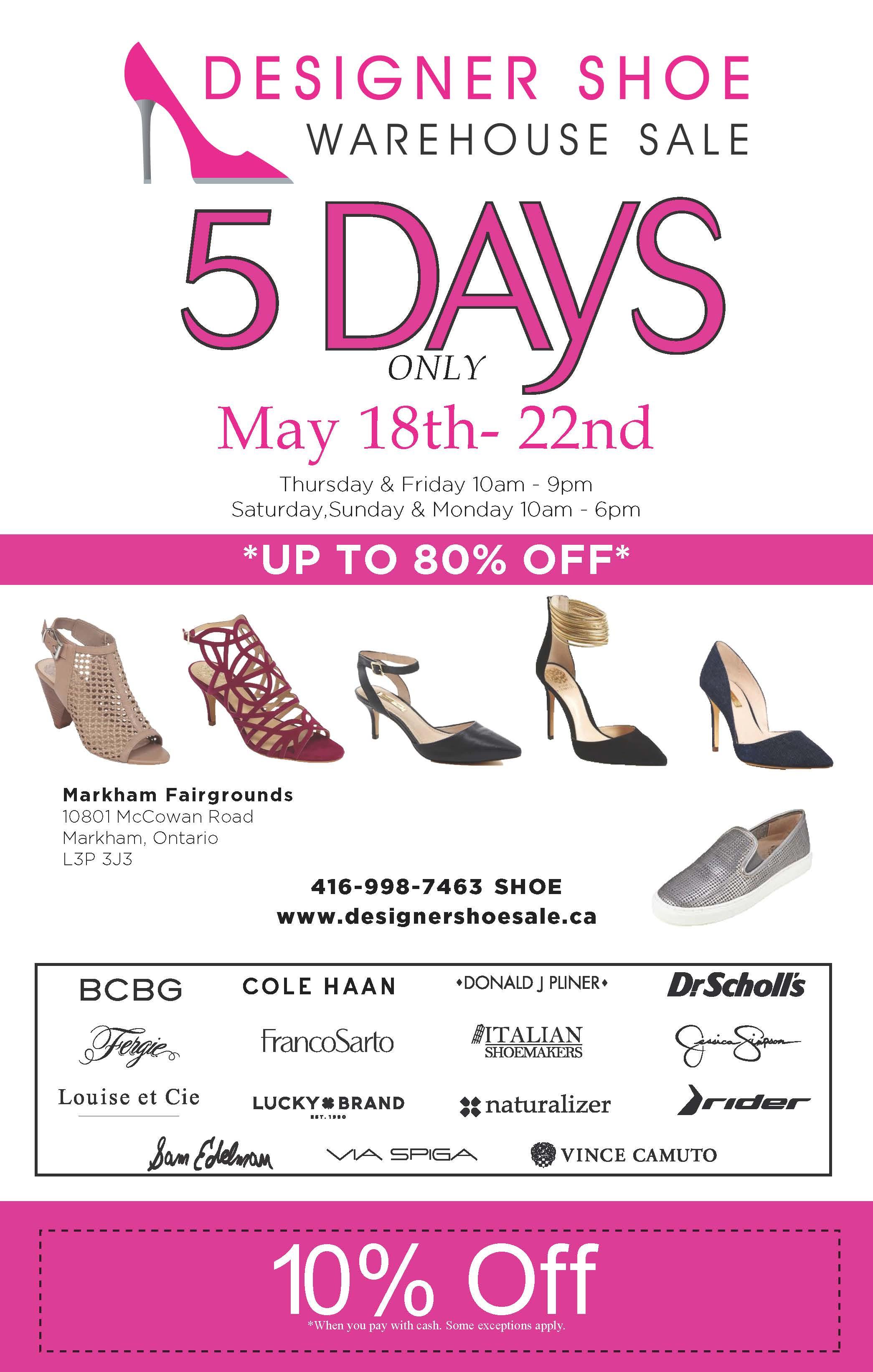 designer shoe warehouse sale markham