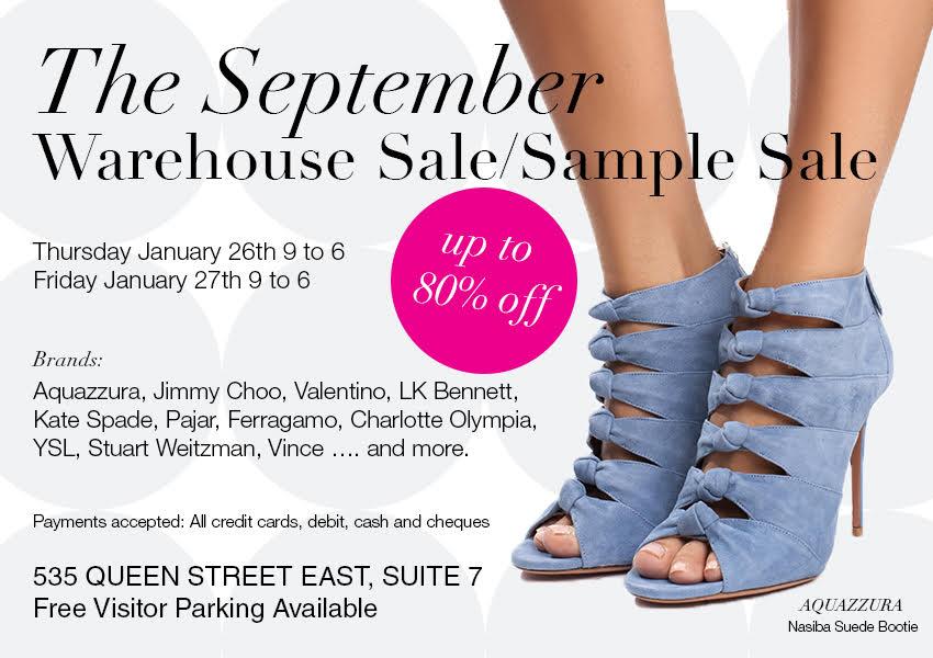 september warehouse sale