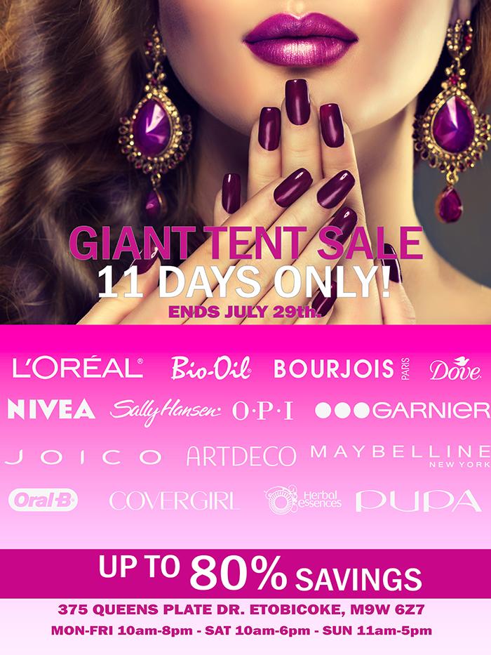5f0daa74d0c3e Cosmetics Tent Sale
