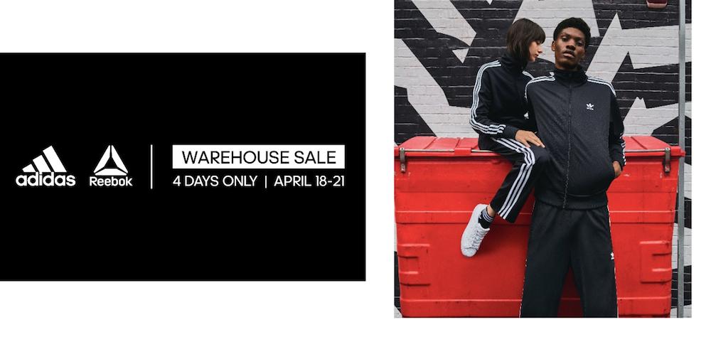 reebok adidas warehouse sale
