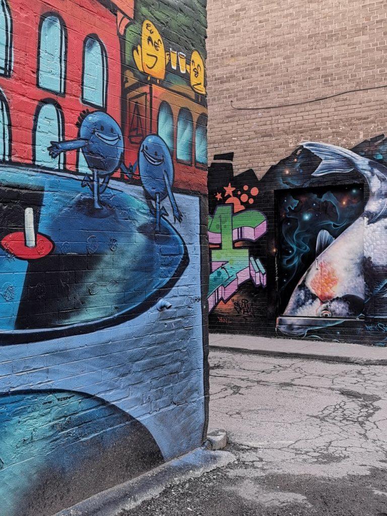 instagrammable toronto graffiti alley huawei