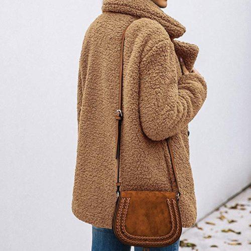PRETTYGARDEN Shearling Oversized Jacket