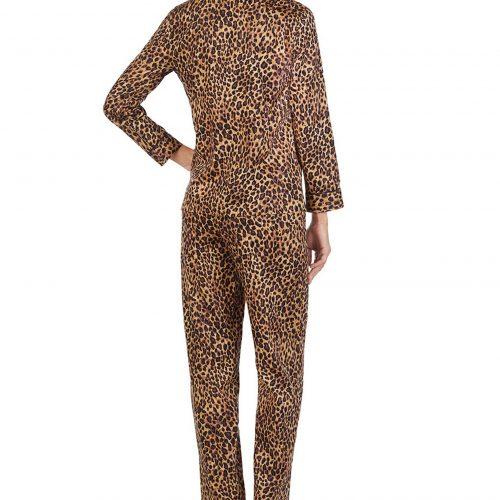 Lauren Ralph Lauren 2-Piece Leopard-Print Cotton Pyjama Set