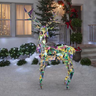 Home Depot LightShow Colossal Iridescent Buck Décoration de Noël extérieure