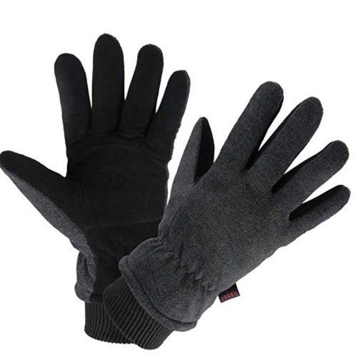 Insulated Polar Fleece Suede Gloves