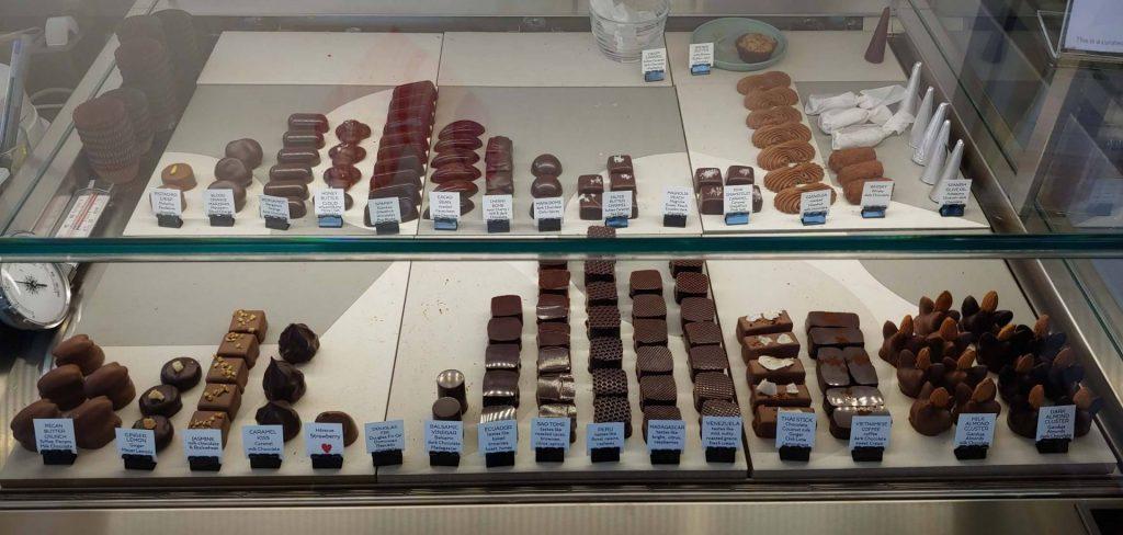 Chocolate truffle display