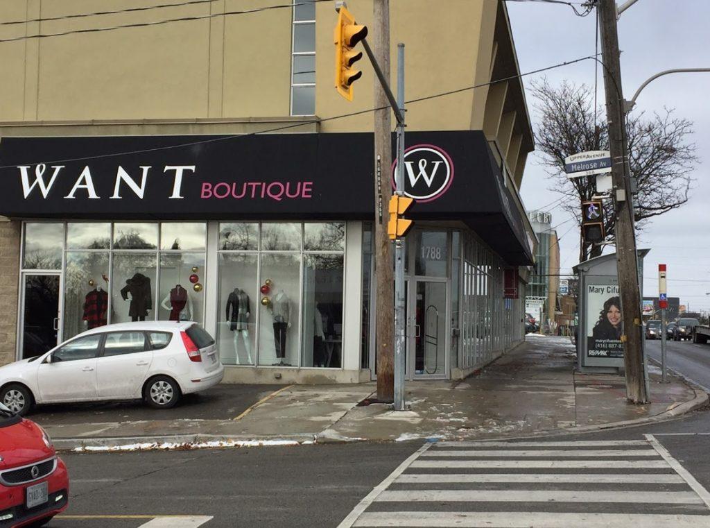 Want Boutique Outside