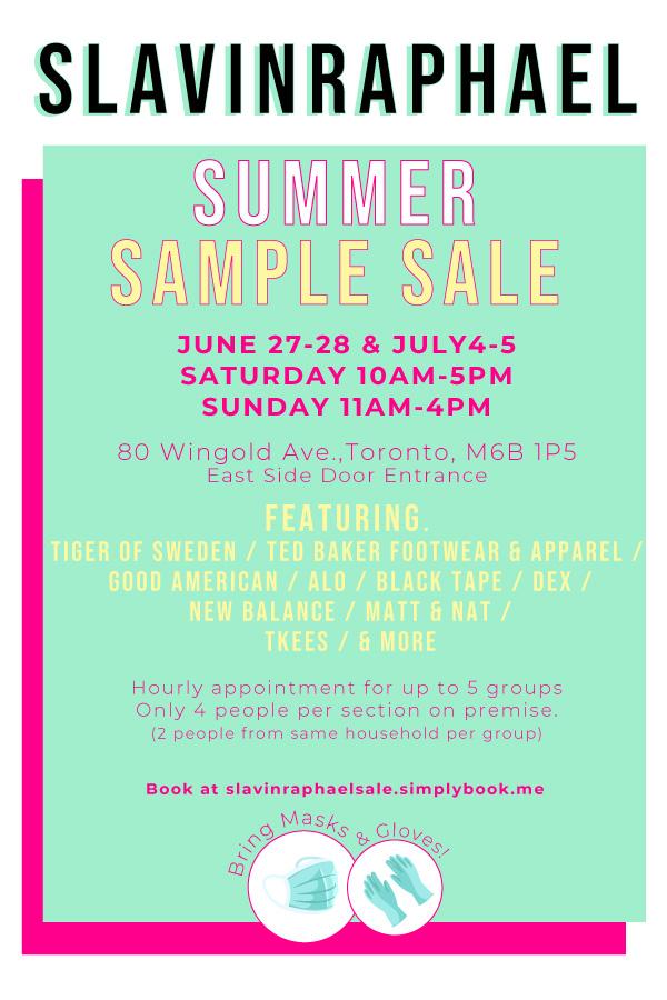 SlavinRaphael Summer Sample Sale