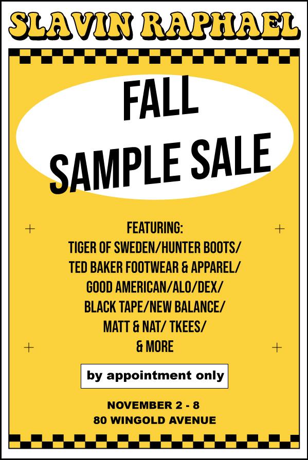 SlavinRaphael Fall Sample Sale