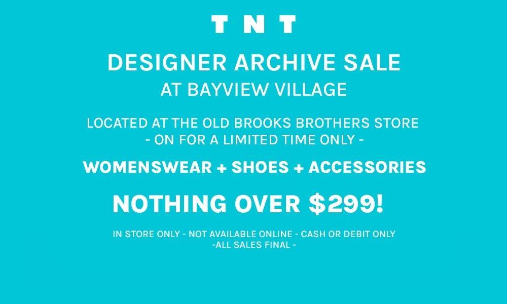 TNT Archive Sale