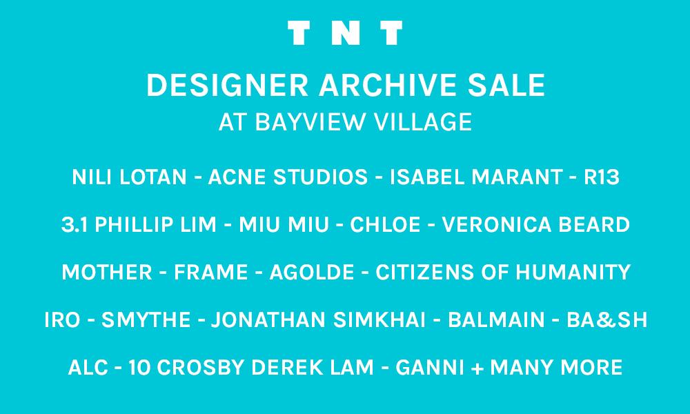 TNT Designer Archive Sale