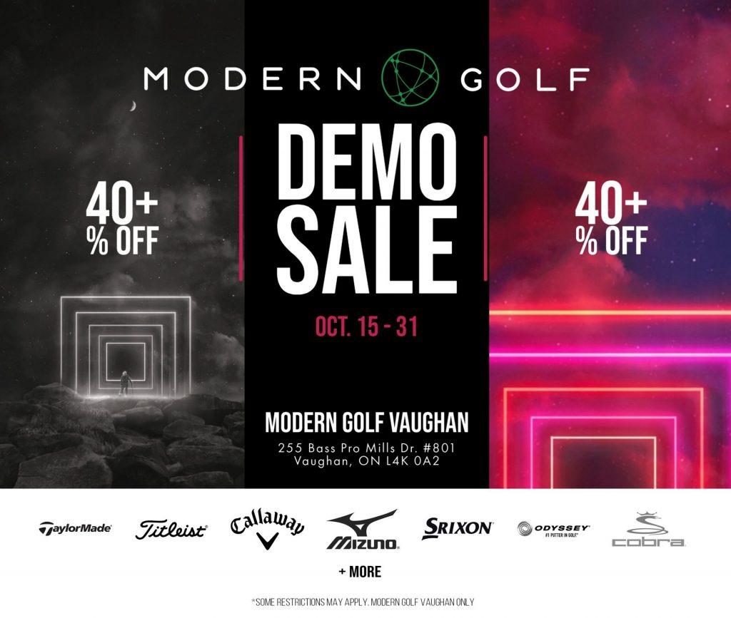Modern Golf Demo Sale
